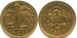 5 центов 2005 Барбадос