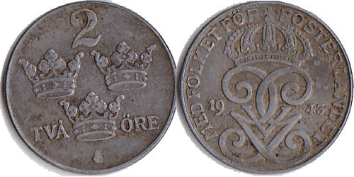 2 эре 1943 Швеция