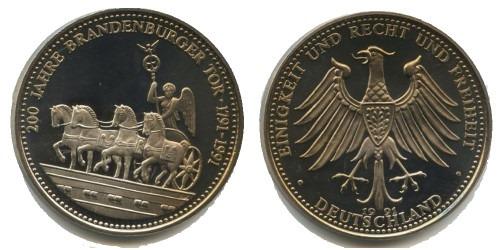 Памятная медаль — 200 лет Бранденбургским воротам 1791-1991