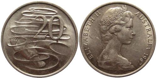 20 центов 1967 Австралия