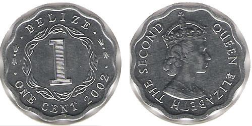 1 цент 2002 Белиз