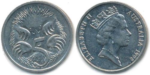 5 центов 1998 Австралия