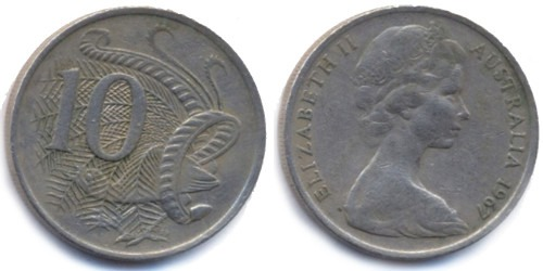 10 центов 1967 Австралия