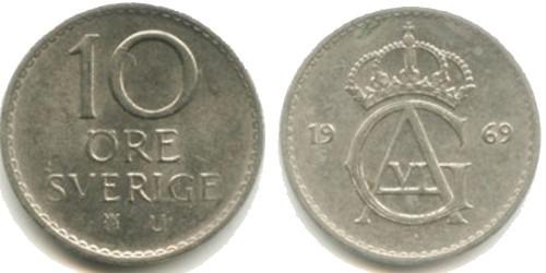 10 эре 1969 Швеция