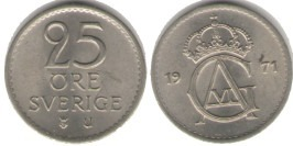 25 эре 1971 Швеция