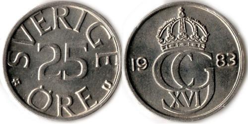 25 эре 1983 Швеция
