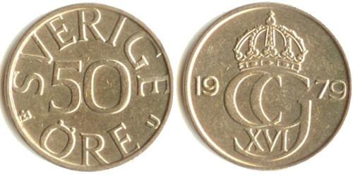 50 эре 1979 Швеция