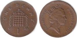 1 пенни 1991 Великобритания
