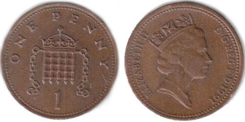 1 новый пенни 1991 Великобритания