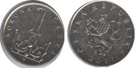 1 крона 2011 Чехия