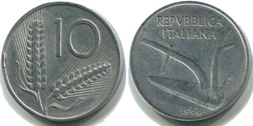 10 лир 1968 Италия