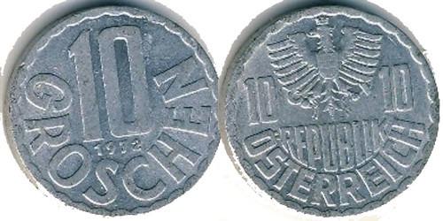 10 грошей 1972 Австрия