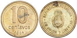 10 сентаво 2004 Аргентина