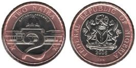 2 найра 2006 Нигерия UNC