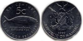 5 центов 2000 Намибия