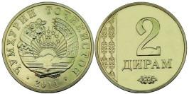2 дирама 2011 Таджикистан UNC
