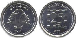 25 ливров 2002 Ливан