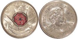 25 центов 2004 Канада — День памяти — Цветок мака