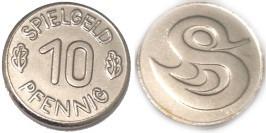 Игровой карточный жетон 10 пфеннингов — Spielgeld 10 Pfennig