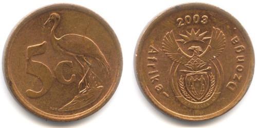5 центов 2003 ЮАР