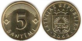 5 сантимов 2009 Латвия