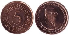 5 центов 2007 Маврикий