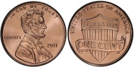 1 цент 2011 США UNC
