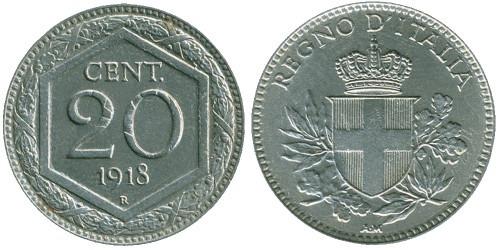 20 чентезимо 1918 Италия