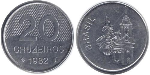20 крузейро 1982 Бразилия