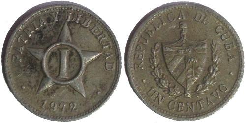 1 сентаво 1972 Куба