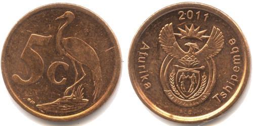 5 центов 2011 ЮАР