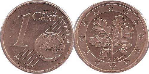 1 евроцент 2008 «А» Германия
