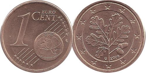 1 евроцент 2008 «G» Германия