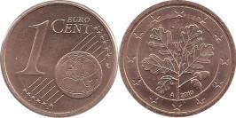 1 евроцент 2010 «А» Германия