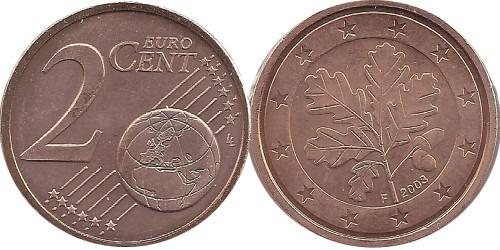 2 евроцента 2003 «F» Германия