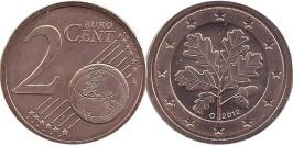 2 евроцентов 2012 «G» Германия