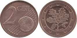 2 евроцента 2013 «А» Германия