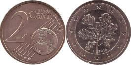 2 евроцента 2014 «F» Германия