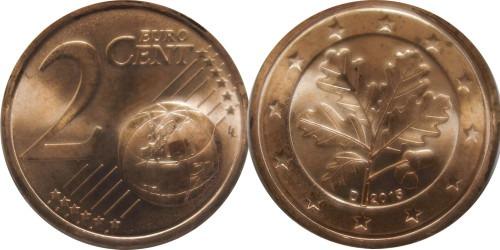 2 евроцента 2015 «D» Германия