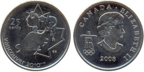 25 центов 2008 Канада — XXI зимние Олимпийские Игры, Ванкувер 2010 — Бобслей
