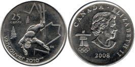 25 центов 2008 Канада — XXI зимние Олимпийские Игры, Ванкувер 2010 — Фристайл