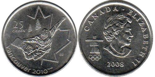 25 центов 2008 Канада — XXI зимние Олимпийские Игры, Ванкувер 2010 — Сноуборд