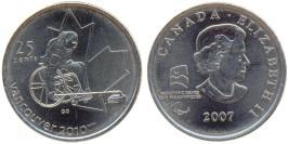 25 центов 2007 Канада — XXI зимние Олимпийские Игры, Ванкувер 2010 — Кёрлинг на колясках