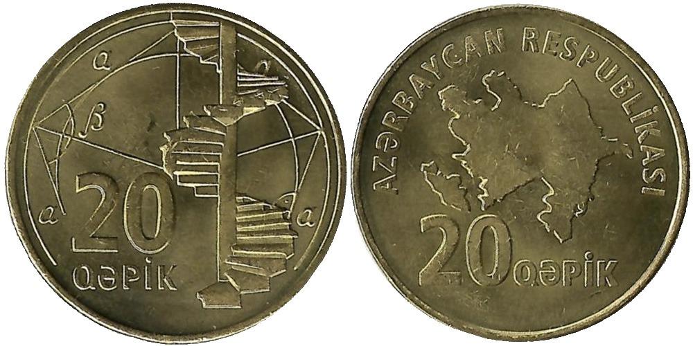 Монета 10 гяпиков азербайджан описание монета литвы 5 лит биметалл 1998 цена