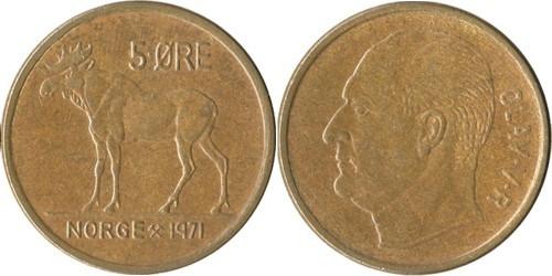 5 эре 1971 Норвегия