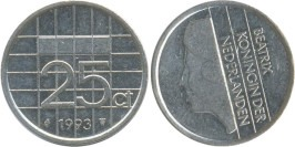 25 центов 1993 Нидерланды