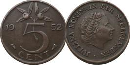 5 центов 1952 Нидерланды
