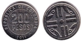 200 песо 2011 Колумбия