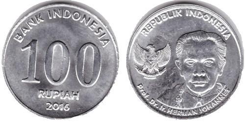 100 рупий 2016 Индонезия