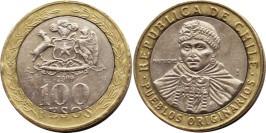 100 песо 2009 Чили